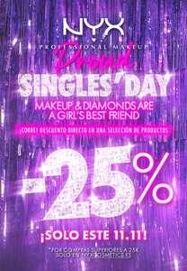 """""""Singles Day"""" 25% de descuento en una selección de productos si la compra es igual o superior a 25 euros"""