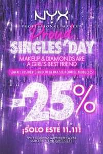 25% en NYX por el SINGLES DAY