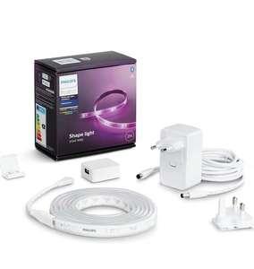 Philips Hue Lightstrip Tira Inteligente LED 2m, con Bluetooth, Luz Blanca y Color
