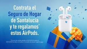 Apple AirPods de regalo al contratar seguro hogar Santalucía