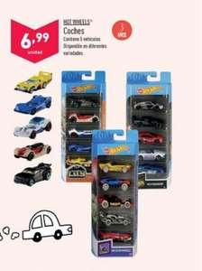 Hot wheels Pack 5 Supermercados Aldi