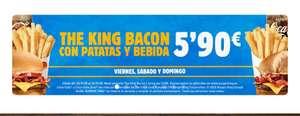 Menú King Bacon 5'90€
