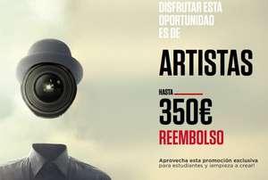 Promoción para estudiantes, reembolso de hasta 350 euros en productos Canon (ver listado)
