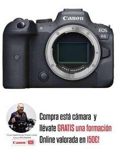 Cámara Canon R6 cuerpo + curso valorado en 150€
