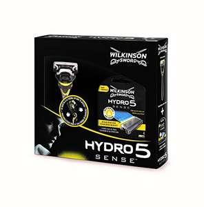 Wilkinson Sword Pack Hydro 5 Sense Máquina de afeitar recargable de 5 hojas + 4 cuchillas de recambio