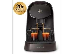 Cafetera de cápsulas - Philips L'Or Barista LM8012/70, 2 tazas o 1 doble, 19 bares, Depósito 1 l, Gris