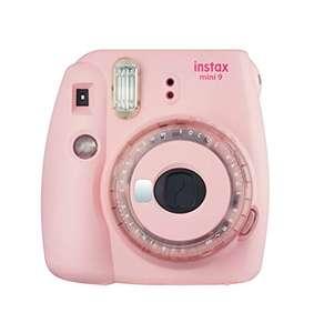 Cámara instantánea Fujifilm Instax mini 9 Rosa Claro + carga 10 fotos(varios colores)