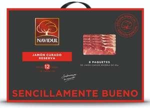 Lote de 8 sobres de 80 gr de jamon curado reserva 20€
