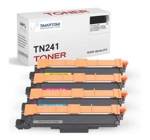 4cartuchos de tóner KCMY compatibles con cartuchos TN241 y TN245 para impresoras color Brother,DCP-9020CDW HL-3140CW,etc.