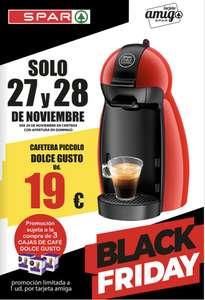 Cafetera Dolce Gusto con compra de 3 cajas de café   Spar Sureste