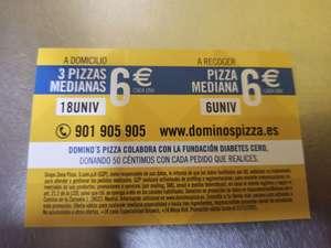 3 medianas 6€ cada una DOMINOS PIZZA