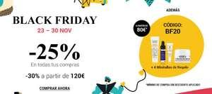 - 25% a partir de 30€ en Kiehl's