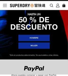 Superdry hasta un 50% de descuento