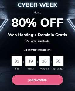 HOSTINGER 80% DTO - WEB HOSTING + DOMINIO GRATIS