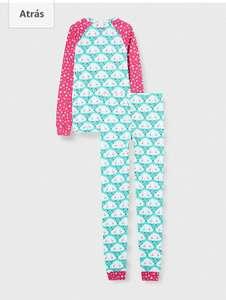 TALLA 3 AÑOS - Hatley Organic Cotton Raglan Long Sleeve Printed Pyjama Set Juego de Pijama para Niñas