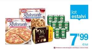 2 pizzas ristorante + 8 mini magnum + 8 latas Heineken 33cl