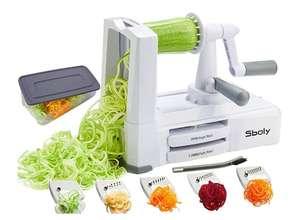 Espiralizador de verduras con 5 cuchillas,con contenedor,Cortador Espiral,
