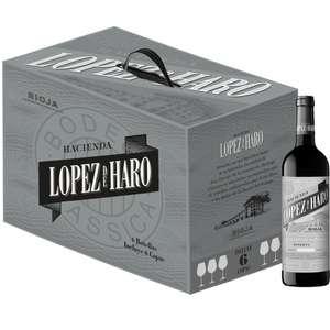 6 Botellas + 6 copas López de Haro Reserva Selección de Familia