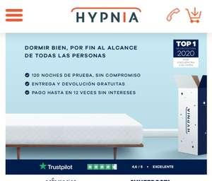 Con Hypnia hazte con un colchón viscoelástico y pruébalo Gratis 120 noches +10% Descuento directo + Envío y recogida gratis