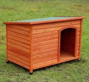 Caseta Perros elevada y techo abatible en madera tratada 85x58x58 cm Desde 55€!