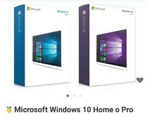 Microsoft Windows 10 Home o Pro Retail