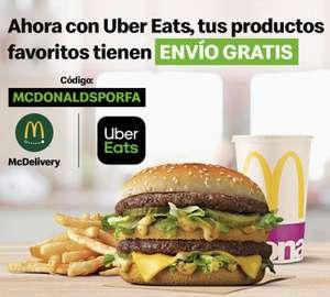 Envío gratis de McDonalds con Uber Eats