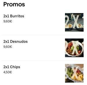 2x1 en Tierra Burrito (Uber Eats)