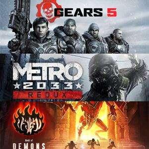 Juega gratis Gears 5, Metro 2033 Redux y Book of Demons @XBOX