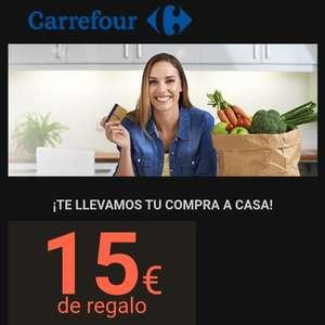15 Euros de Descuento en una compra mínima de 100 y compatible con el Cheque-Ahorro en Carrefour
