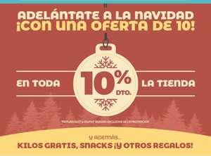 10% de descuento en toda la tienda