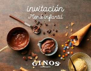 Menú infantil de regalo en Ginos hasta el domingo 20/12. Gastando mínimo 18 euros.