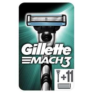 Gillette Mach3 Maquinilla de Afeitar Hombre + 11 Cuchillas de Recambio