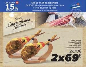 2 jamones serrano Bodega Sanchez Alcaraz (Carrefour)