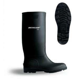 Bota de agua PVC caña alta negra Dunlop