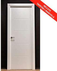 Pack puerta maciza SAHARA de 72,5 cm DRCH + jambas+ manivela