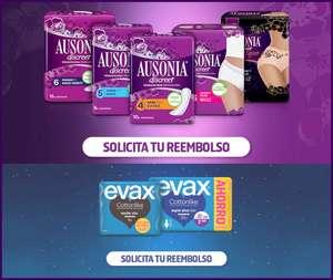 Pruébalo gratis Ausonia Discreet y Evax, reembolso total del producto
