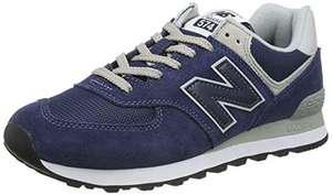 New Balance 574 talla 43 azul. Marca 47 euros de precio pero al pagar se aplican otros 7 euros de descuento en la cesta