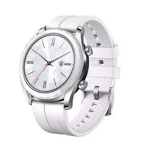 Smartwatch - Huawei Watch GT Elegant, 42x46 mm, Acero, Blanco