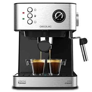 Cecotec Power Espresso 20 Professionale Cafetera. 20 Bares, Manómetro, Depósito de 1,5L, Brazo Doble Salida, Vaporizador, Superficie