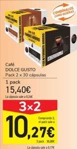 Dolce Gusto 180 cápsulas a 0,17€ c/u (3x2 Carrefour)