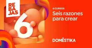 DOMESTIKA - 67% Dto en pack de 6 cursos