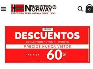Descuentos de hasta 60% en geographical norway