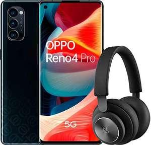 """OPPO Reno 4 Pro 5G – Smartphone de 6.5"""" (Snapdragon 765G, 4000mAh con carga 65W, Android 10) Negro + Auriculares Bang&Olufsen H4"""