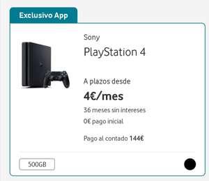 PS4 Slim 500Gb. (Solo Vodafone APP)