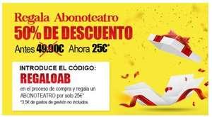 Abono Teatro al 50% (Madrid)