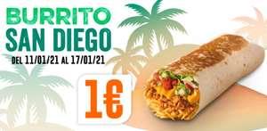 Burrito San Diego Por 1€ Taco Bell (Uber Eats)