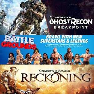 Juega GRATIS Tom Clancy's Ghost Recon® Breakpoint, Kingdoms of Amalur: Re-Reckoning y WWE 2K Battlegrounds