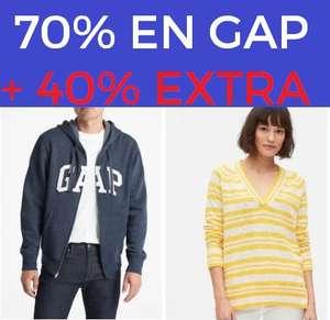 Hasta un 70% + 40% EXTRA en GAP