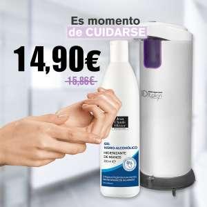 Dispensador Automático De Jabón + Gel Hidroalcohólico Jco 300Ml