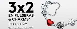 PANDORA 3X2 en Collares, pulseras y Charms. Especial San Valentín